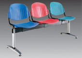 Plastic Row ChairLPC-002-3C