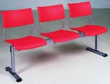 Plastic Row ChairLPC-007-3S