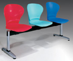 Plastic Row ChairLPC-015-3S