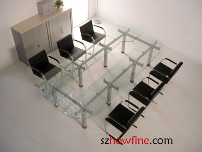 Glass Conference Table[GM 19] Glass Conference Table Conference Table HOWFINE  OFFICE FURNITURE HIGH QUALITY OFFICE FURNITURE MANUFACTURE