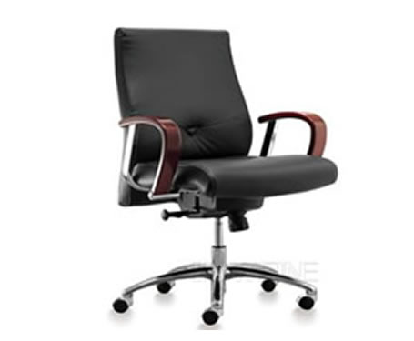 Leather Medium_Back Chair  Office Chairs  HOWFINE OFFICE FURNITURE ...
